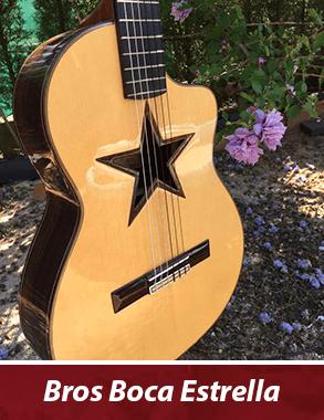 guitarra personalizada con boca de estrella