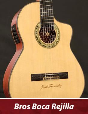 guitarra con personalización de boca y roseta (en verde)