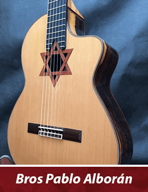 guitarras personalizadas de famosos - modelo Pablo Alborán