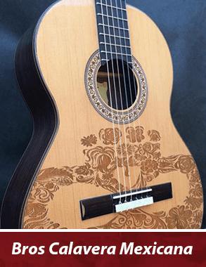 guitarra personalizada con tallado de rosas que simboliza una calavera mexicana