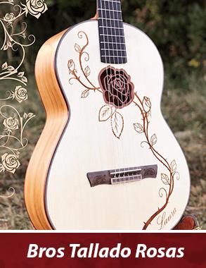 guitarra personalizada con tallado de rosas