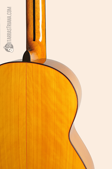 Guitarra Bros Canastera amarilla detras