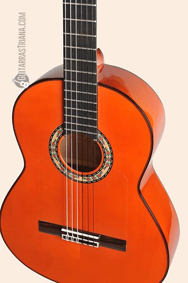Guitarra Bros Canastera naranja acabados