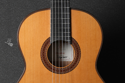 boca y rosta de la guitarra alhambra 7C Classic