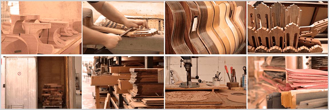 fabricación de las guitarras españolas de MR