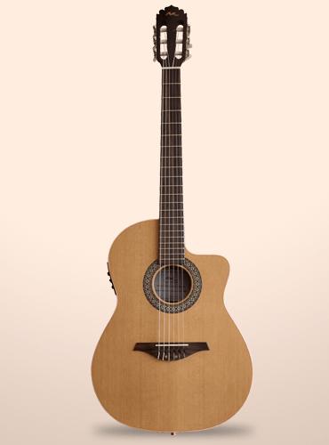 guitarra manuel rodriguez crossover nogal