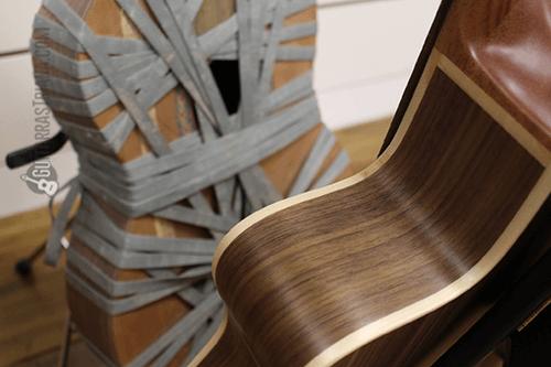 aros y perfiles de la guitarra MR crossover nogal