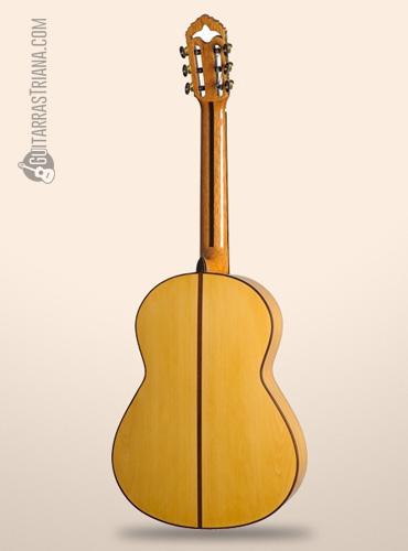 parte trasera de la guitarra bros solea