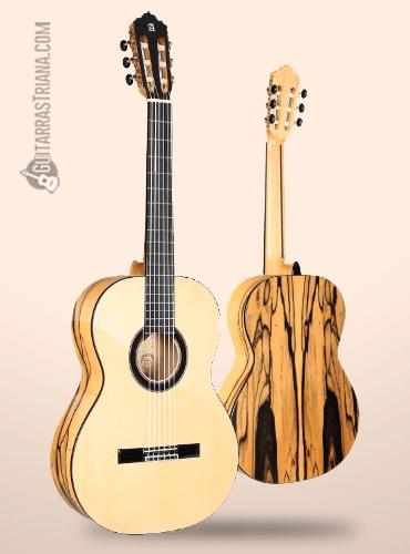 guitarra flamenca alhambra exotic woods de abeto y ébano blanco
