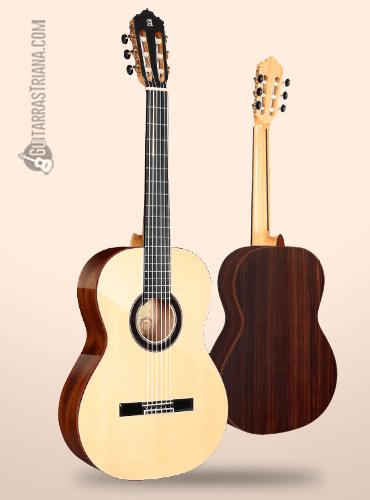 guitarra flamenca alhambra modelo exotic woods de abeto y palosanto de India